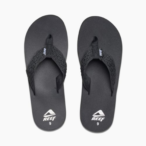 REEF MENS FLIP FLOPS.NEW SMOOTHY ARCH SUPPORT BLACK THONGS SANDALS SHOES 9S 13 B